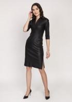Leather dress, SUK178 black