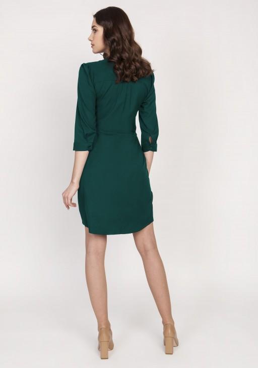 Sukienka ze szczypankami, SUK149,zielona