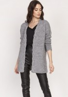 Warm sweater - cardigan, SWE127 grey