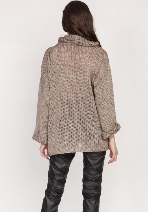Oversize sweater,  SWE128 tabak