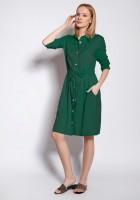 Sukienka zapinana na guziki, SUK183 zielony