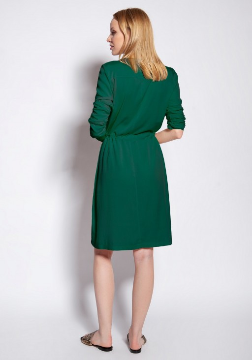 Buttoned dress, SUK183 green