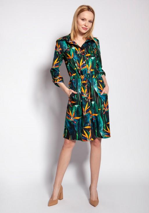 Buttoned dress, SUK184 bamboo
