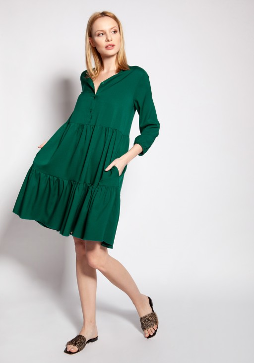 Dress with frills, SUK179 green