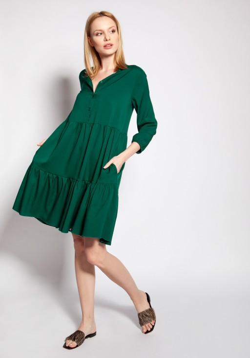 Dress with frills, SUK179 green
