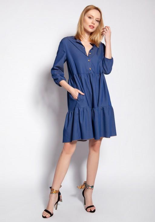Sukienka z falbankami, SUK180 jeans