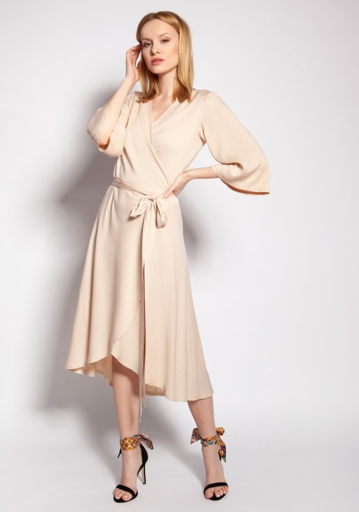 Envelope dress, SUK185 beige