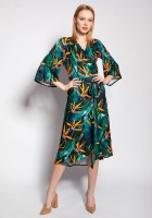 Sukienka kopertowa, SUK186 bambus