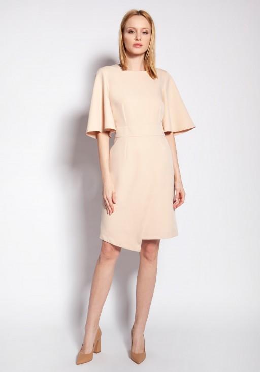 Sukienka dopasowana, SUK187 beż