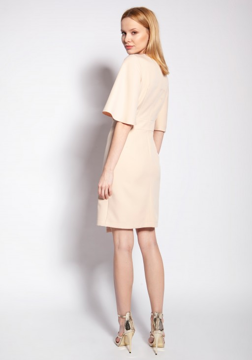 Fitted dress, SUK187 beige