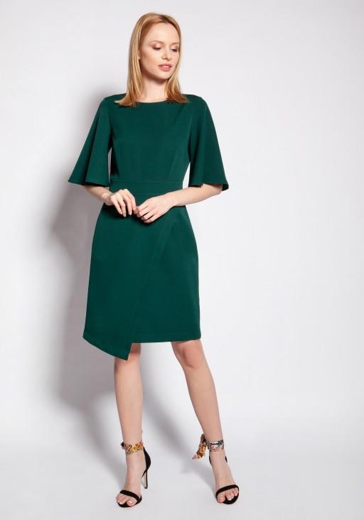 Sukienka dopasowana, SUK187 zielony