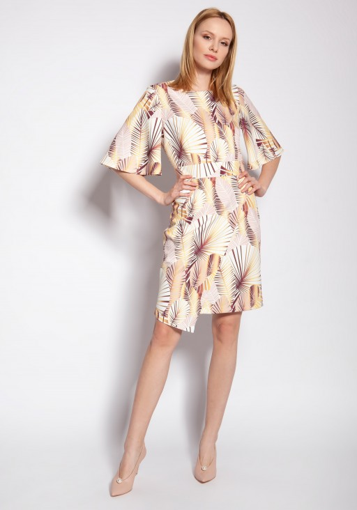 Fitted dress, SUK188 abstract leaves