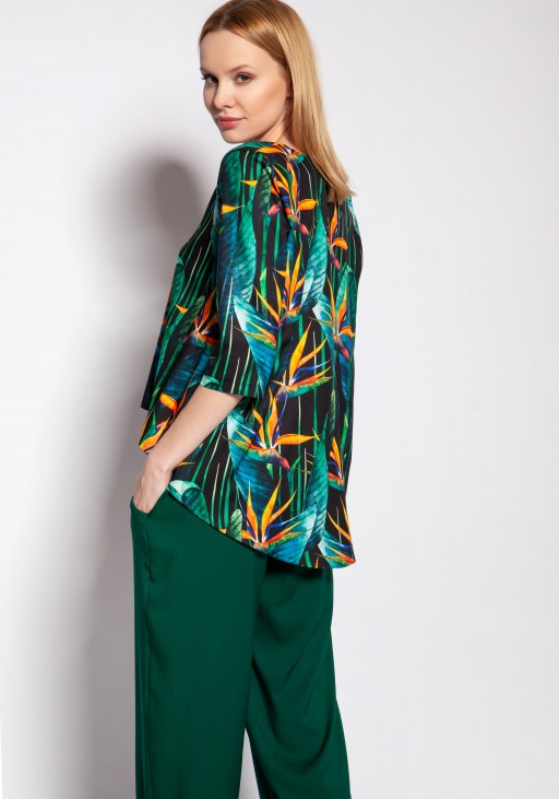 Blouse with longer back, BLU147 bamboo