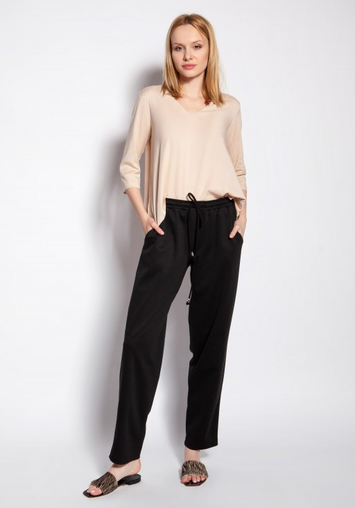 Luźne spodnie, SD121 czarny