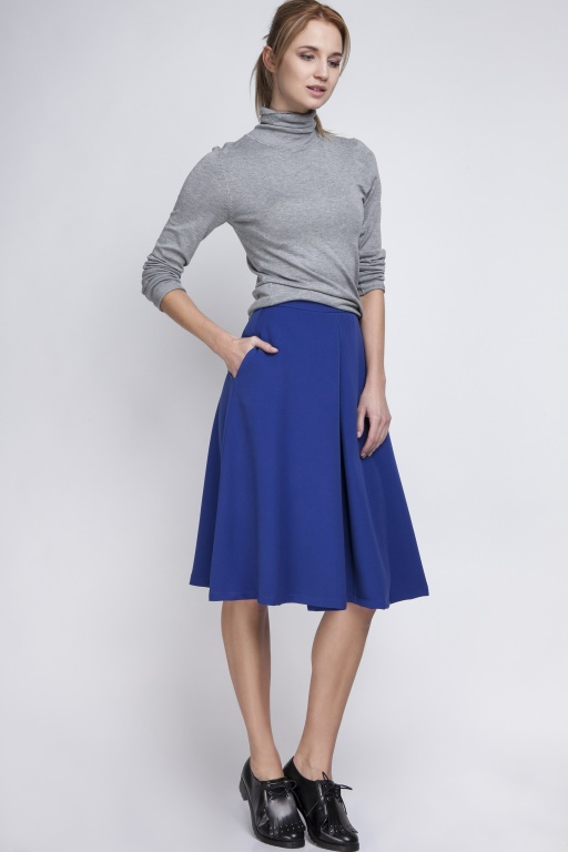Midi skirt, SP110 indigo