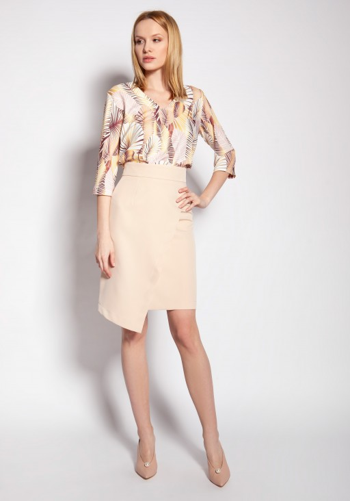 Fitted skirt, SP126 beige