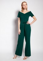 Jumpsuit with a carmen neckline, KB116 green