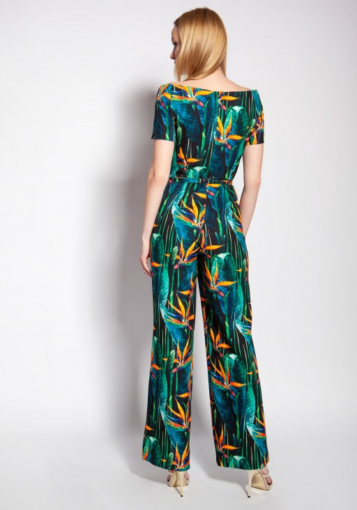 Jumpsuit with a carmen neckline, KB117 bamboo