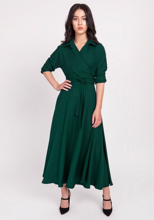 Długa sukienka, SUK172 zielony