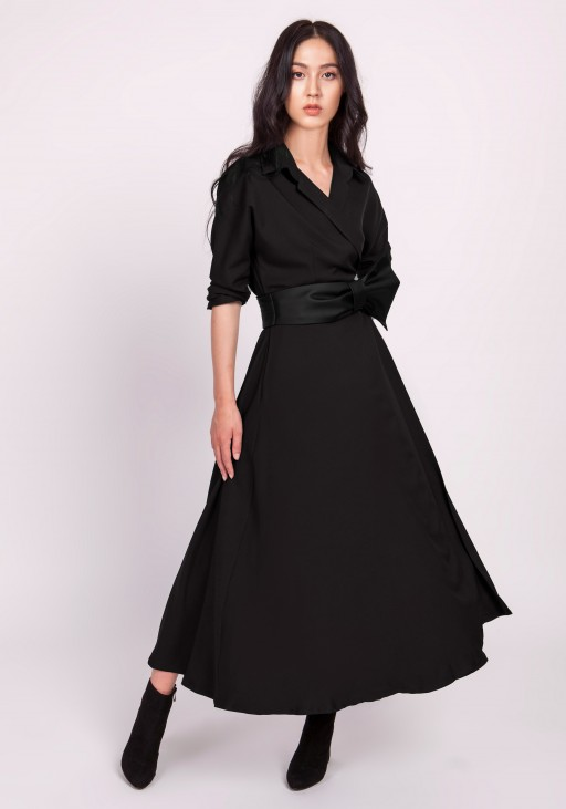 Długa sukienka, SUK172 czarny