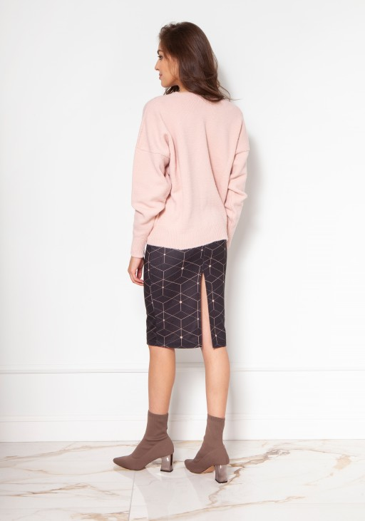 Sweater with large buttons SWE131 pink