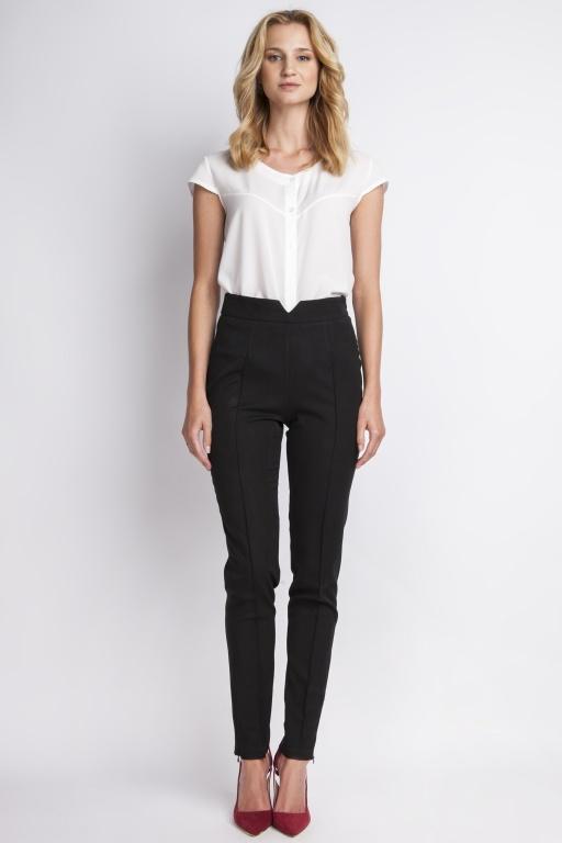 Spodnie z wysokim stanem, SD112 czarny