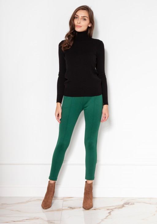 Luxuorious knitted turtleneck SWE130 black