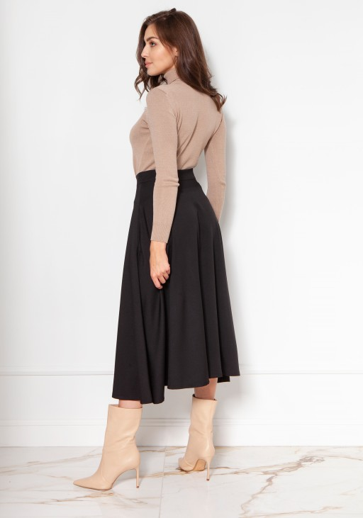 Luxuorious knitted turtleneck SWE130 beige