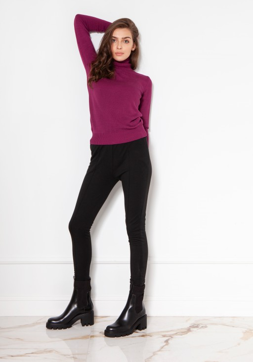 Luxuorious knitted turtleneck SWE130 burgundy
