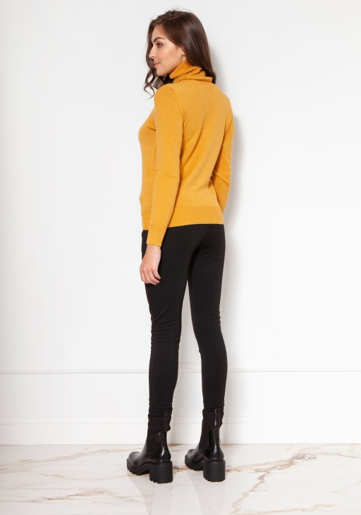 Luxuorious knitted turtleneck SWE130 mustard