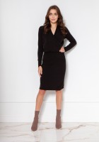 Sweater dress with an envelope neckline SWE136