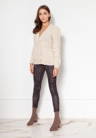 Buttoned sweater with puff sleeves SWE134 grey