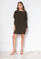 Oversize'ovy sweter - tunika SWE135 czarny