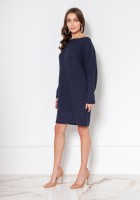 Oversized sweater - tunic SWE135 navy