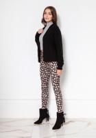 Sweter bez zapięcia z warkoczami SWE132 czarny