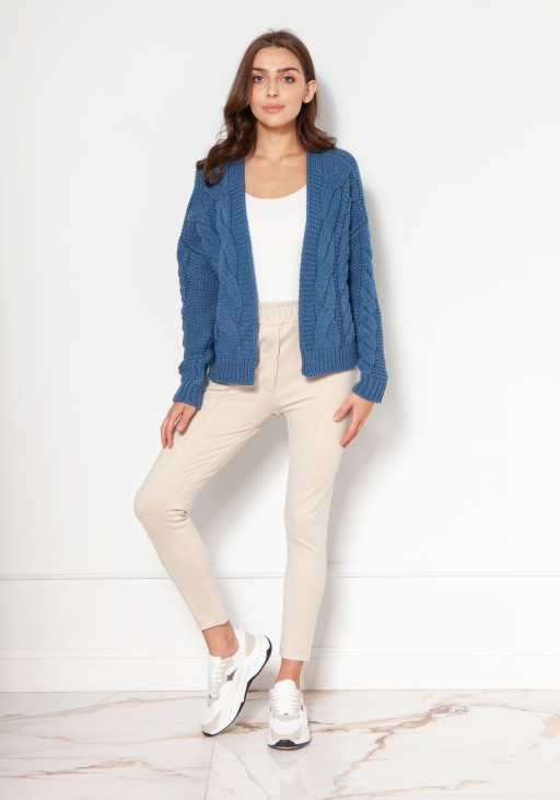 Braided sweater without fastening SWE132 jeans
