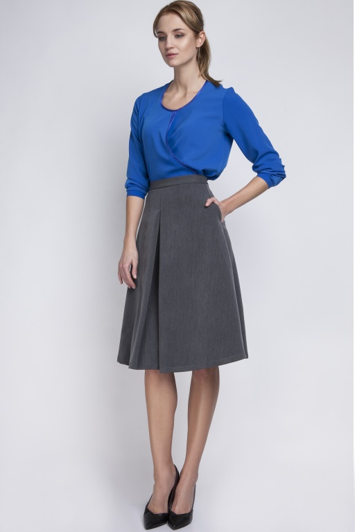 Midi skirt, SP110 graphite