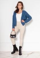 Sweter bez zapięcia z warkoczami SWE132 jeans