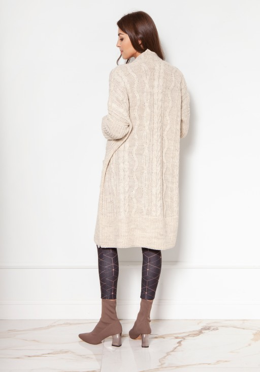 Sweater coat with pockets SWE139 beige