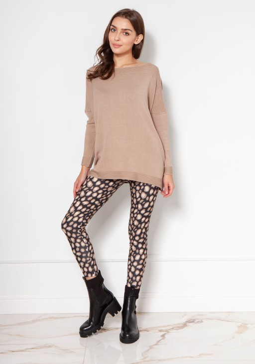Oversized viscose sweater SWE133 beige
