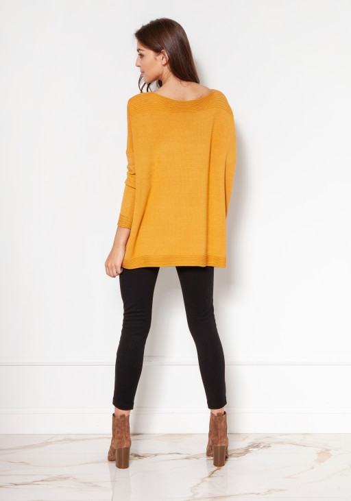 Oversized viscose sweater SWE133 mustard