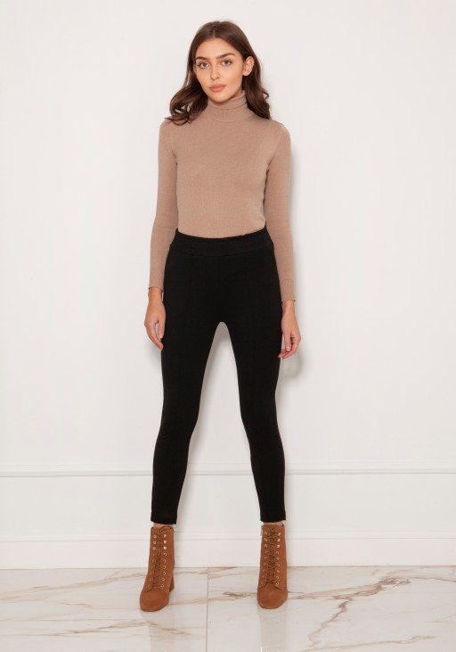 Cigarette trousers with a crease SD123 beige