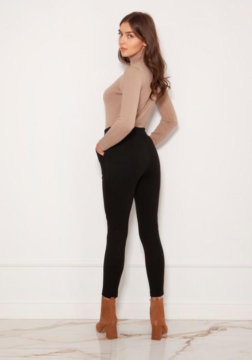 Spodnie cygaretki w kant SD123 czarny