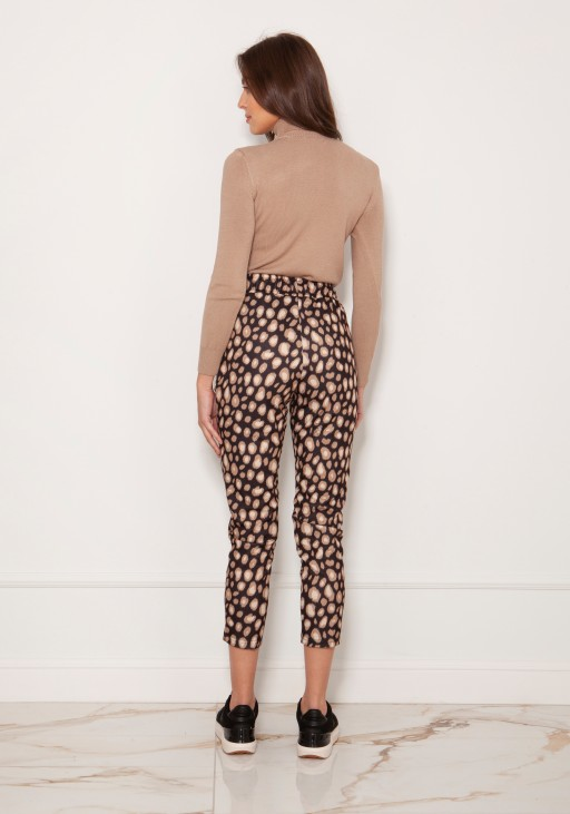 Cigarette trousers with a crease SD123 panther