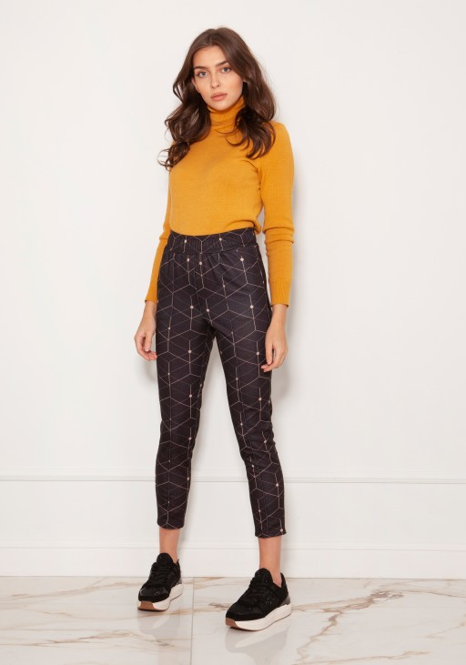Cigarette trousers with a crease SD123 pattern