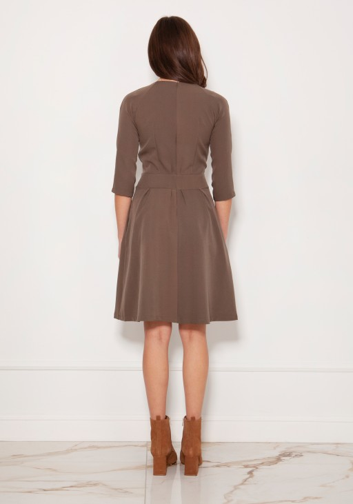 Dress with a flared bottom, SUK122 khaki