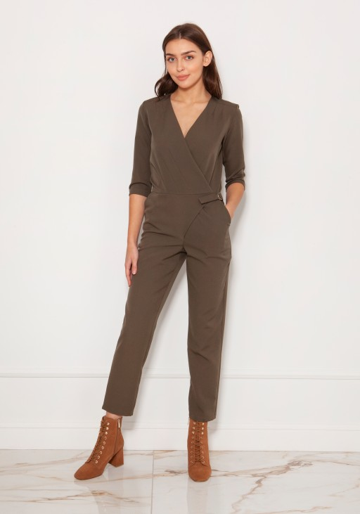 Elegant jumpsuit, KB108 shiny fabric