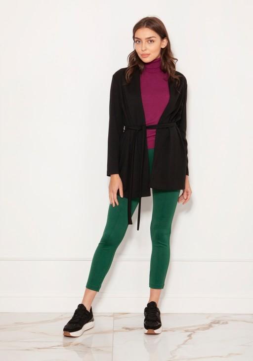 Minimalistic jacket tied at the waist ZA120 black