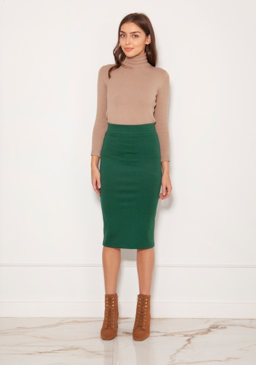 Punto knit pencil skirt SP128 green