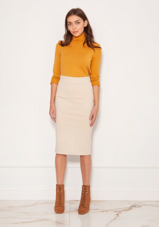 Punto knit pencil skirt SP128 beige